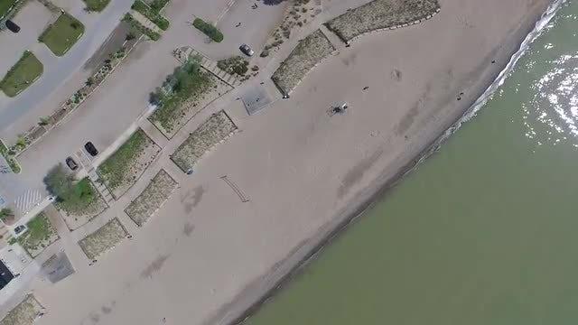 Overhead Shot Of A Beach: Stock Video