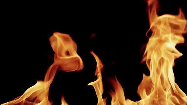 4K Slow Motion Fire 02: Stock Video