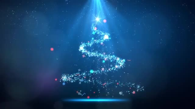 Magical Sparkling Spiral Lights Tree: Stock Motion Graphics