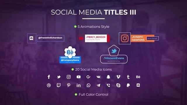 Social Media Titles III: Motion Graphics Templates