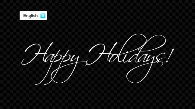 Handwritten Holiday Greetings: Stock Motion Graphics