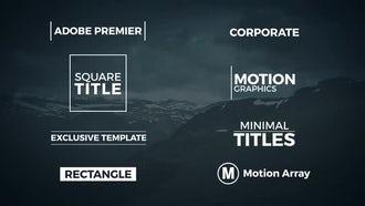 8 Minimal Titles: Premiere Pro Templates