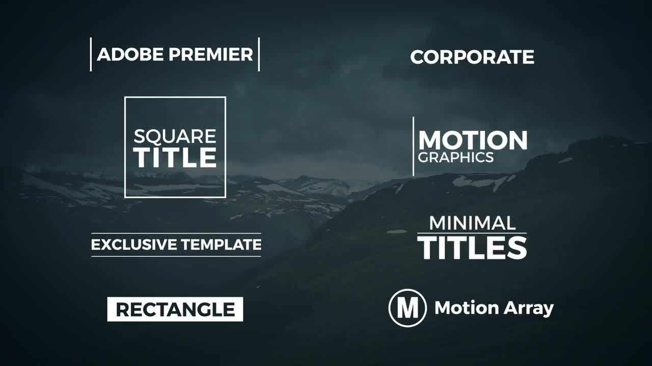 8 Minimal Titles - Premiere Pro Templates | Motion Array