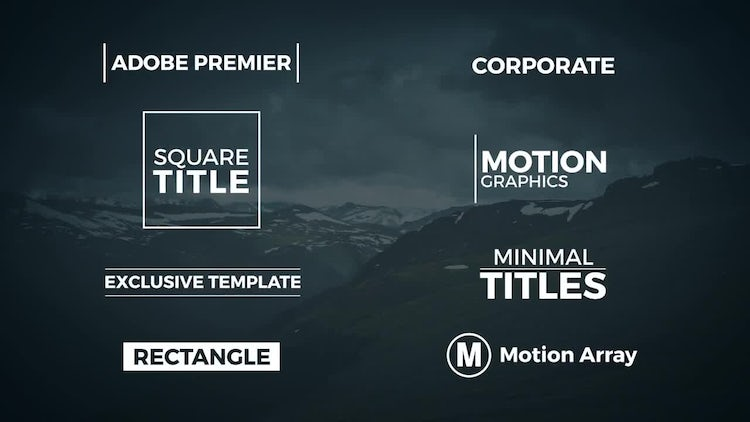adobe after effects title templates free - 8 minimal titles premiere pro templates motion array