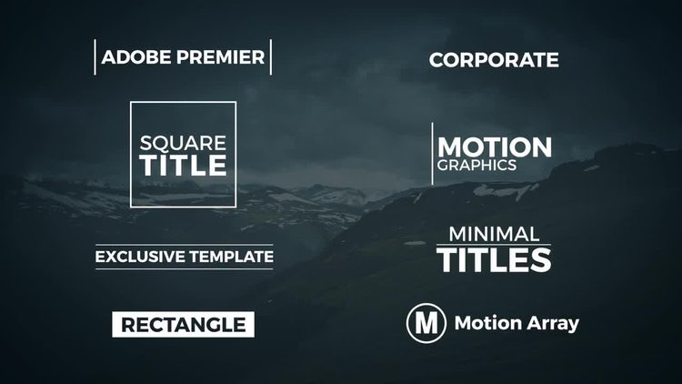 free premiere pro title templates 8 minimal titles premiere pro templates motion array