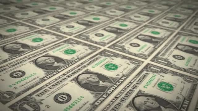 One Dollar Background: Stock Motion Graphics