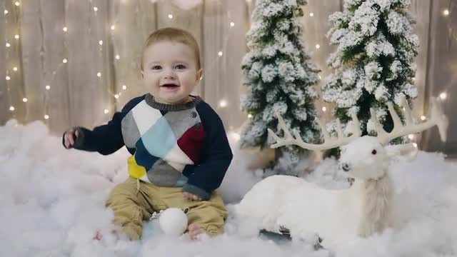 Happy Baby's First Christmas: Stock Video