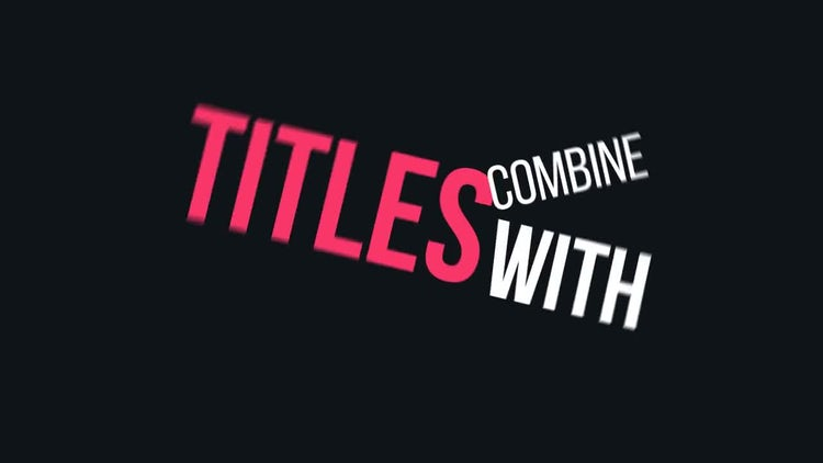 Dynamic Typography Vol.2: After Effects Templates