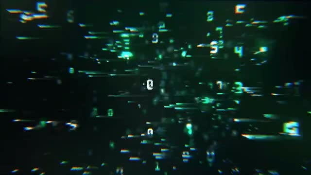 Digital Space Warp Background: Stock Motion Graphics