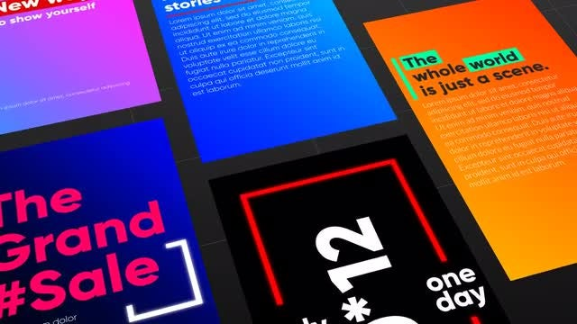 SMM Typography Stories: After Effects Templates