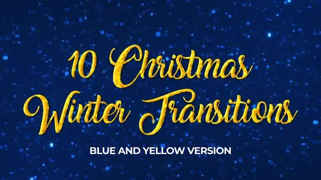 Ten Christmas Winter Transitions: Stock Motion Graphics