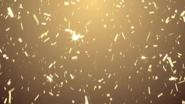 Golden Confetti: Stock Motion Graphics