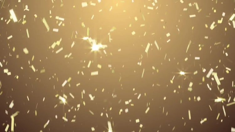 Golden Confetti: Motion Graphics