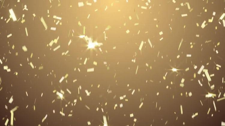 Golden Confetti: Stock Motion Graphics