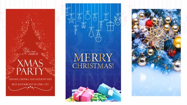 10 Christmas Instagram Stories: After Effects Templates