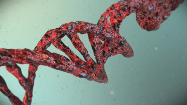 DNA molecular background: Motion Graphics