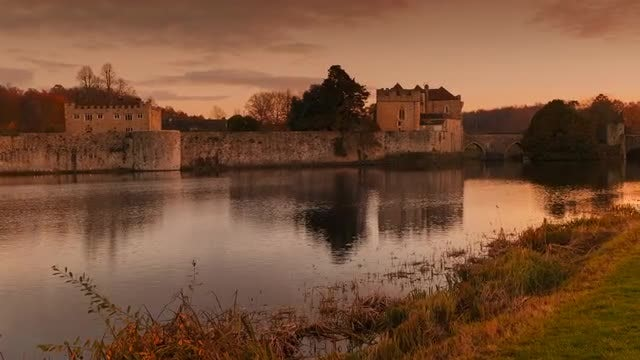 Leeds Castle in England: Stock Video