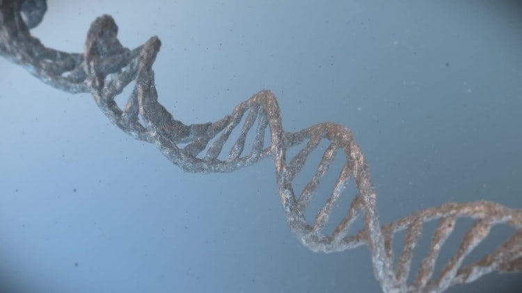 DNA molecular background: Motion Graphics