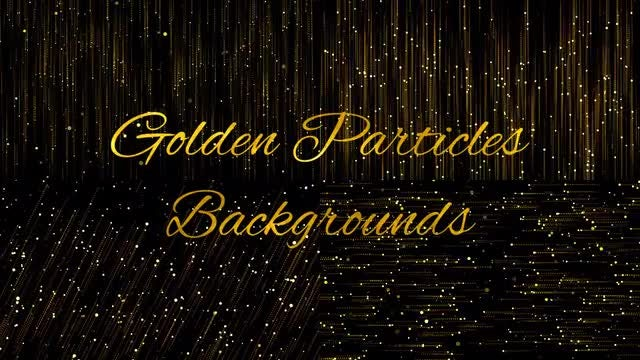 Golden Particles Backgrounds: Stock Motion Graphics