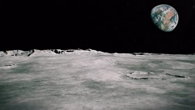 Surface Of The Moon Landscape: Stock Motion Graphics