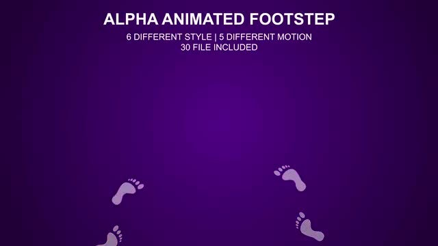 Footprint Steps Pack: Stock Motion Graphics
