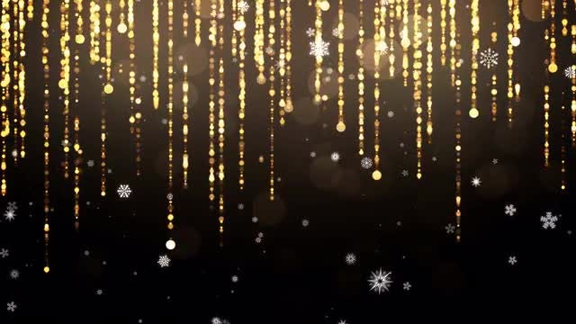 Hanging Tinsel And Snowflakes Pack: Stock Motion Graphics