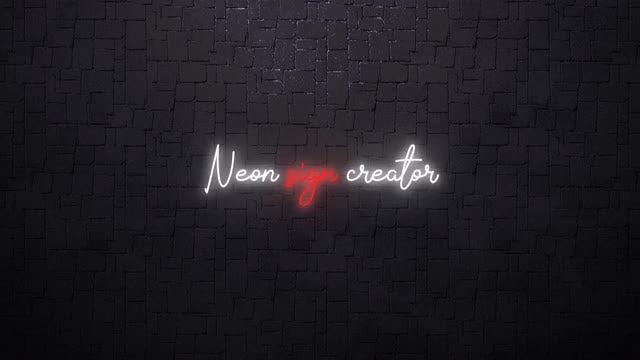 Neon Sign Creator: Premiere Pro Presets