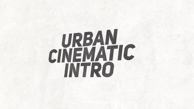 Urban Cinematic Intro: After Effects Templates