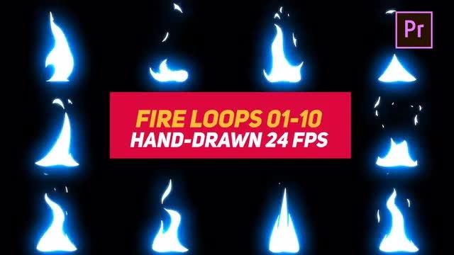 Liquid Elements Fire Loops 01-10: Motion Graphics Templates