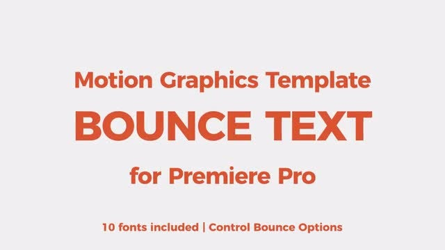 Bounce Text Tool: Motion Graphics Templates