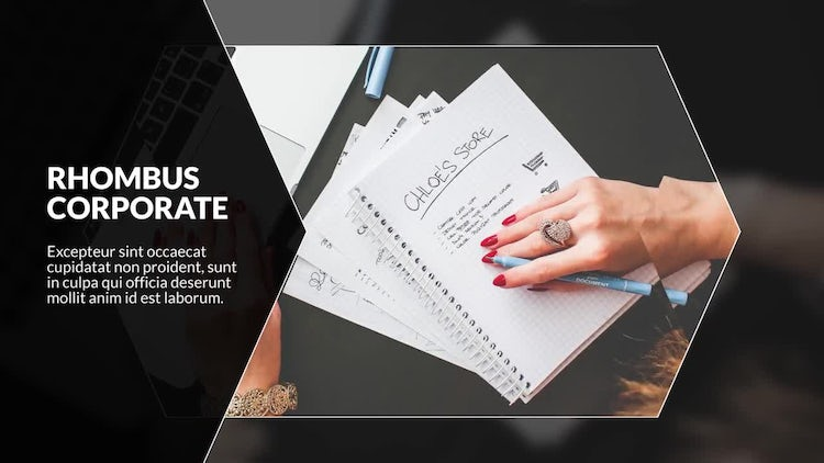 Business Rhombus Corporate: After Effects Templates