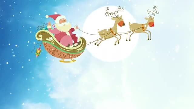 Santa Claus' Sleigh 4K Background: Stock Motion Graphics