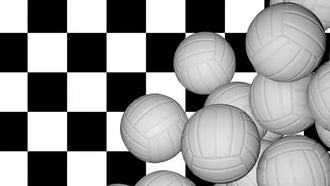 Volleyball Balls Transition: Motion Graphics