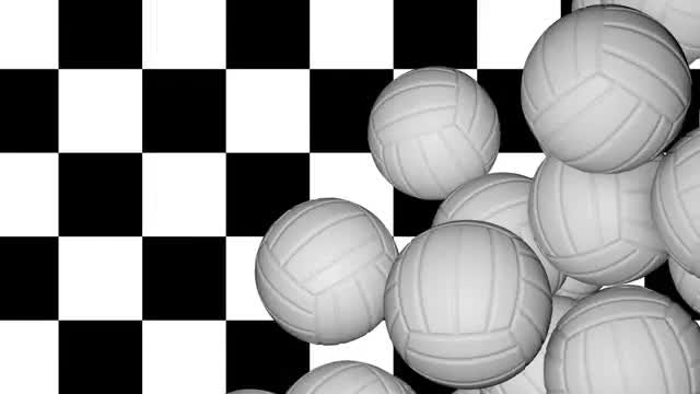 Volleyball Balls Transition: Stock Motion Graphics