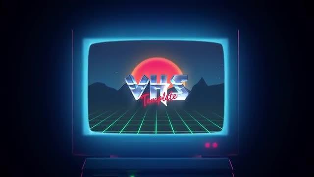 Retro Wave Logo: Premiere Pro Templates
