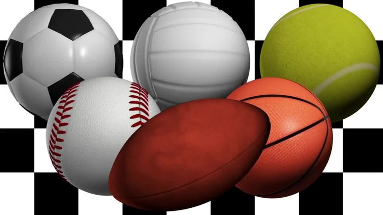 Spinning Sport Balls Pack: Stock Motion Graphics