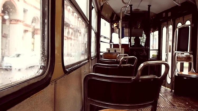 Vintage Tram: Stock Video