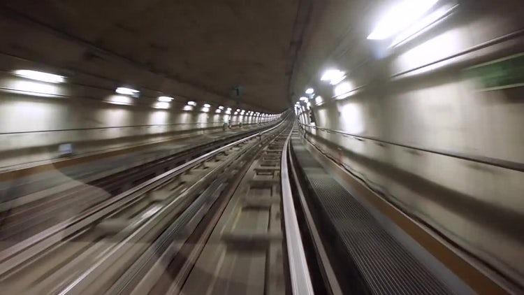 Underground Tunnel: Stock Video