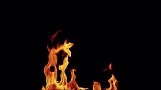 4K Slow Motion Fire 04: Stock Video