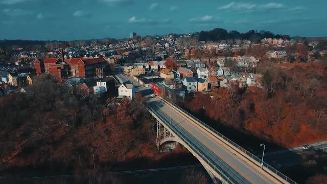Aerial Shot Of A Bridge: Stock Video