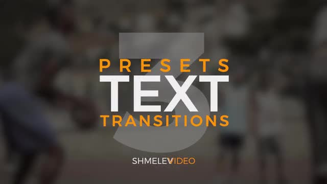 RGB Text Transitions Presets V.1 146947 - Free download