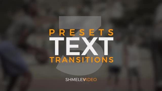 Text Transitions V.3: Premiere Pro Presets