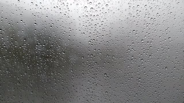 Raindrops On Foggy Glass: Stock Video