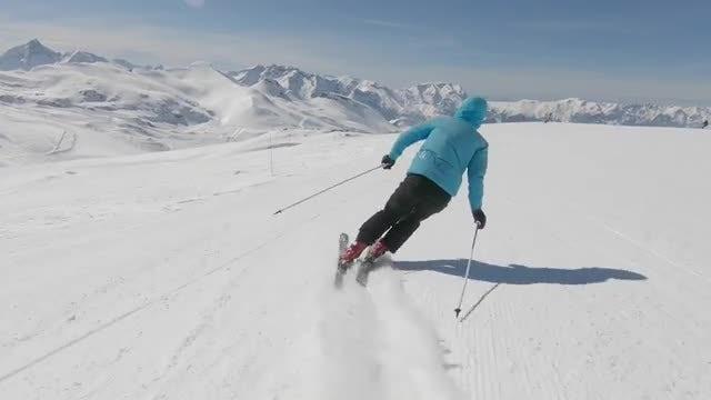 Skier On Ski Route: Stock Video