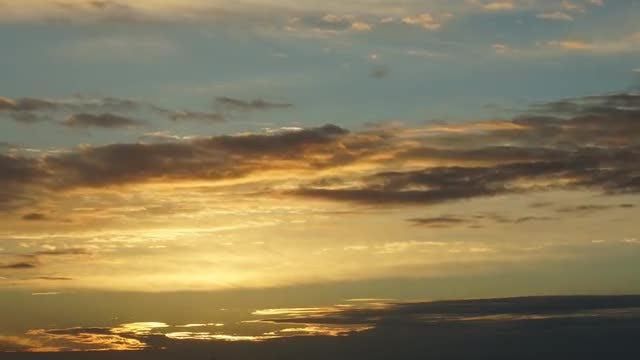 Sunset Sky Clouds Time Lapse: Stock Video