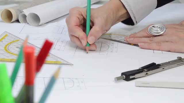 Arhitectural Planing: Stock Video