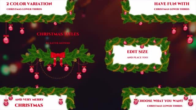 Christmas Tree Lower Thirds: Premiere Pro Templates
