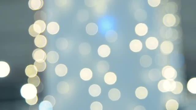 Blurred Christmas lights: Stock Video