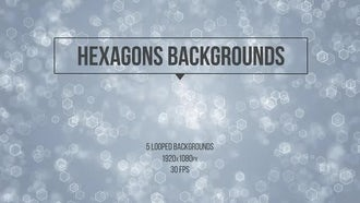 Hexagons Backgrounds: Motion Graphics