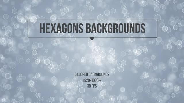 Hexagons Backgrounds: Stock Motion Graphics